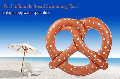 Inflatable Bread Air Mattress Swimming Float With Pump For Water