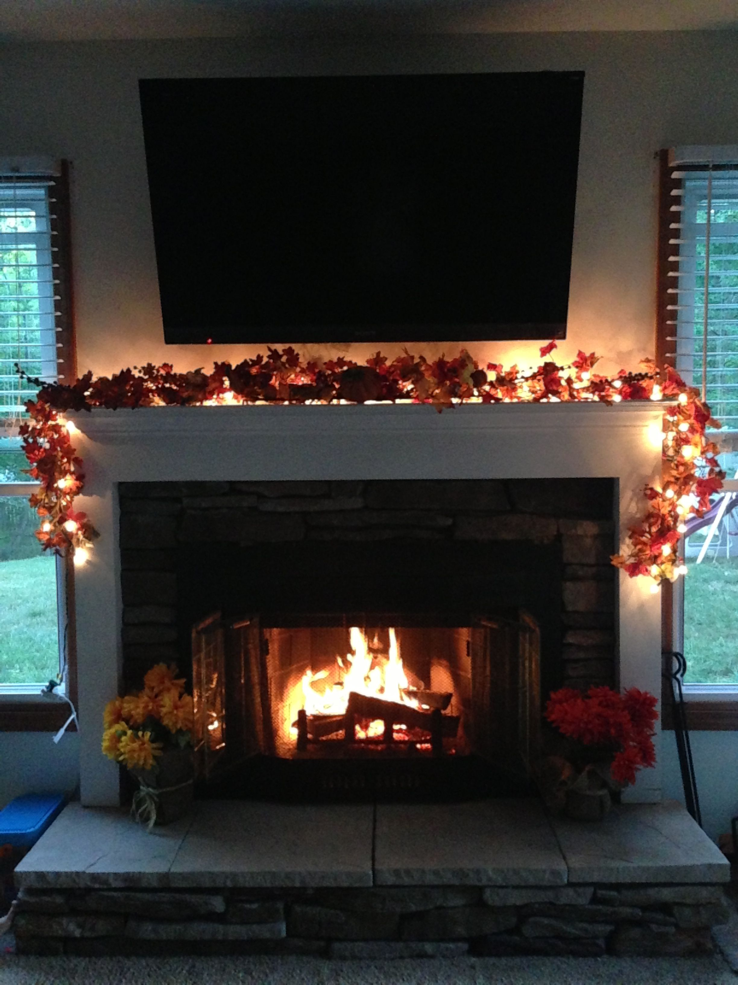 fall decor for the fireplace for the home in 2018 fall decor rh pinterest com