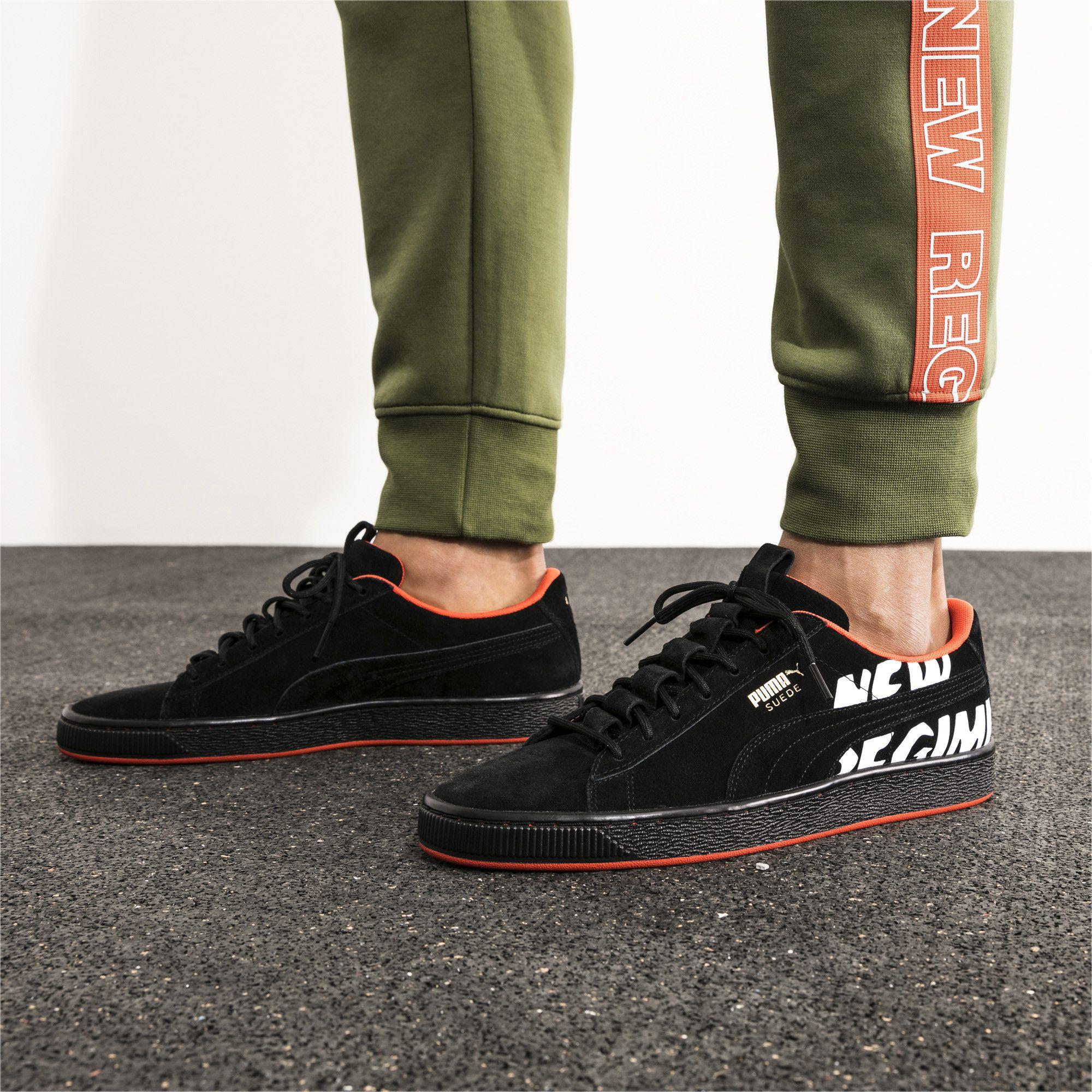 9be2160022 PUMA x ATELIER NEW REGIME Suede Sneakers | Scarlet Ibis-Scarlet Ibis ...