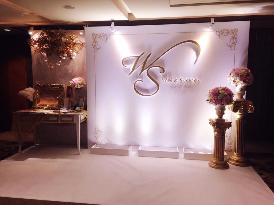 Backdrop Wedding Stage Flower Ceremony Decorations Backdrops Photo Booth