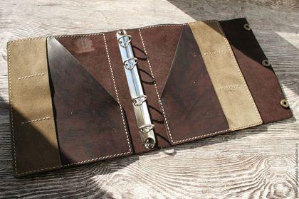 c3238a851b9a Купить или заказать Ежедневник, Блокнот, Тетрадь на кольцах из натуральной  кожи А5 в интернет