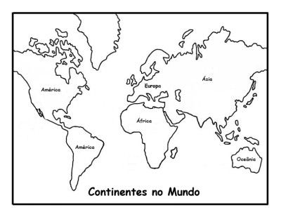 Continentes Fichas E Atividades Mapa Mundi Para Colorir Mapa