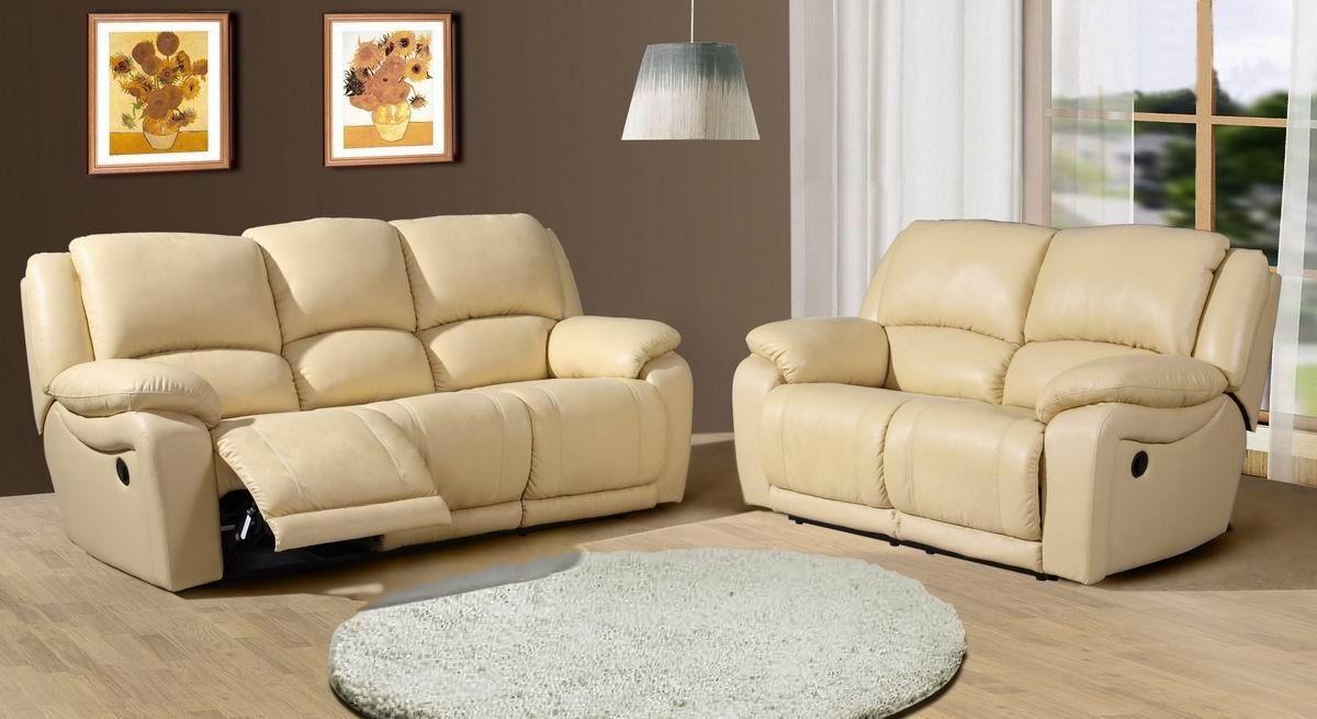 Sofá reclinable de cuero YLR1023-Sofás Sala Estar-Identificación ...