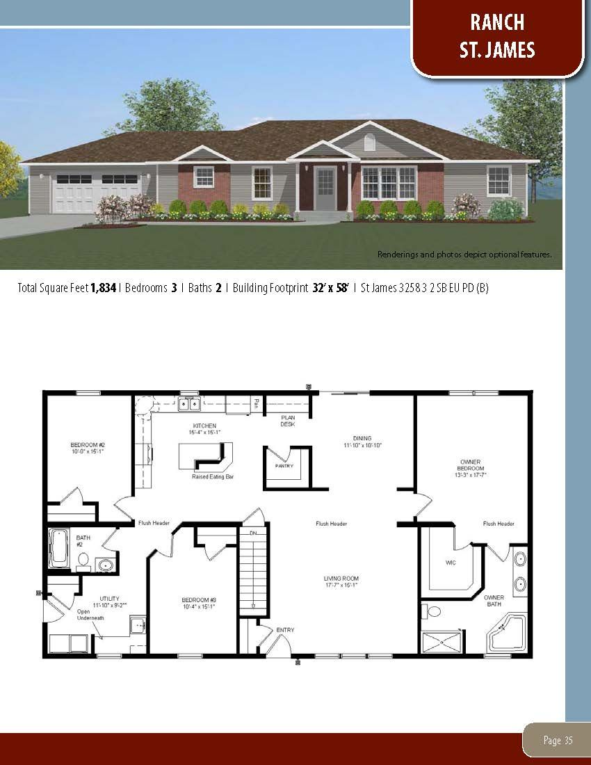 To Learn About Building Your New Home With All American Homes Visit Our Website At Www Allamericanhomes Co New House Plans Modular Home Plans House Blueprints
