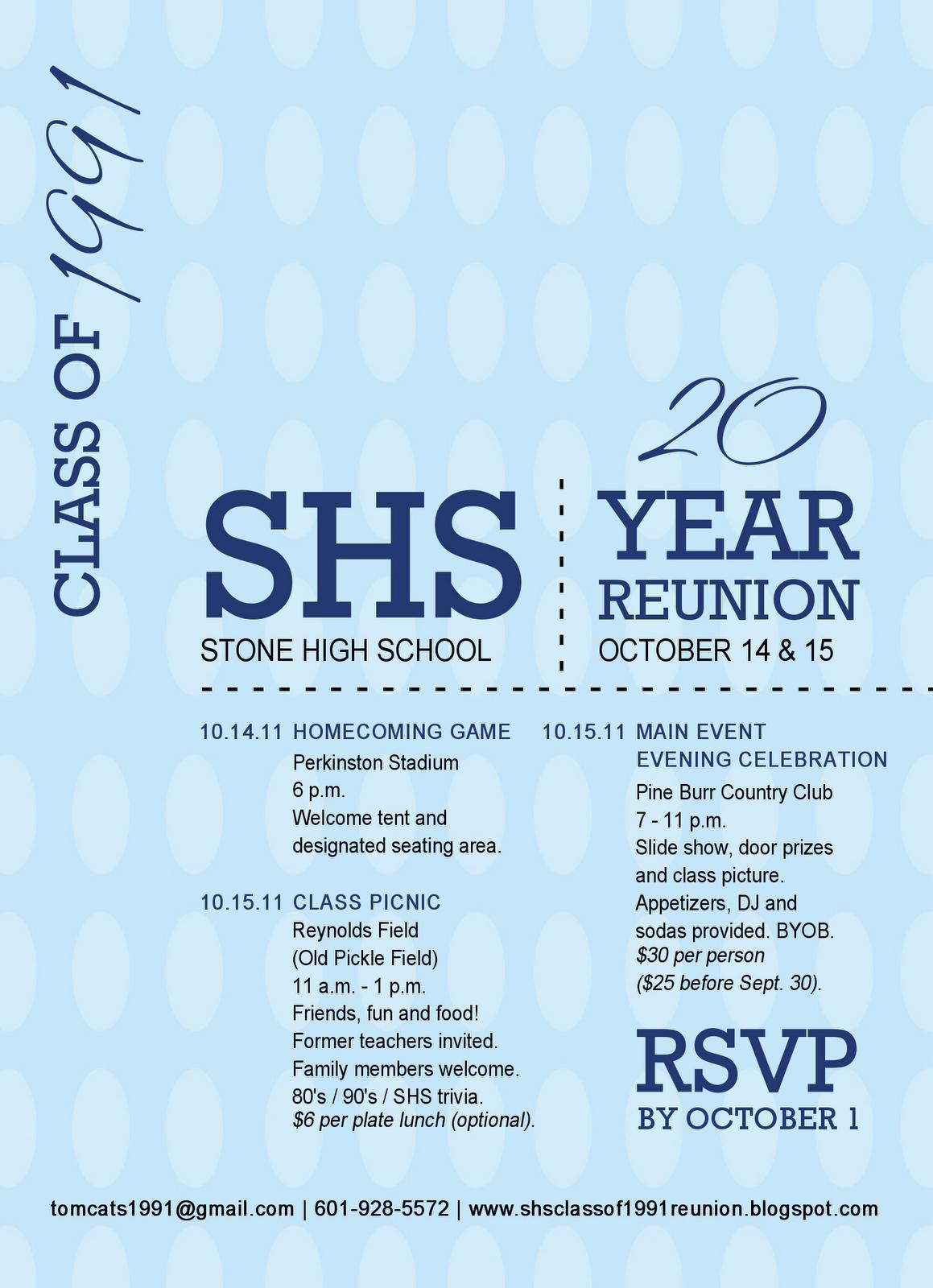 Stone High Class Of 20 Year Reunion Reunion