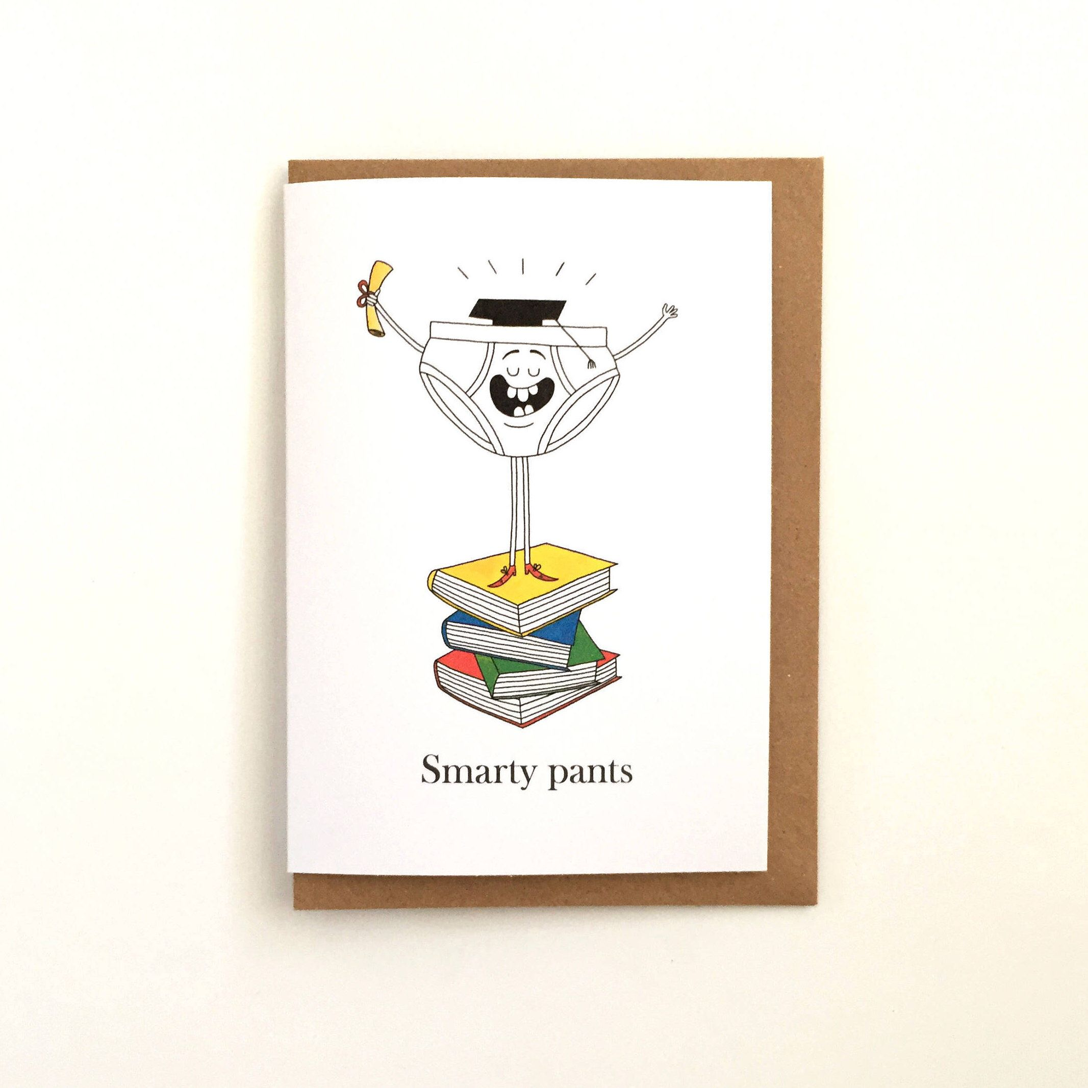 Smarty Pants Exam Results Graduation Greetings Card Well Done