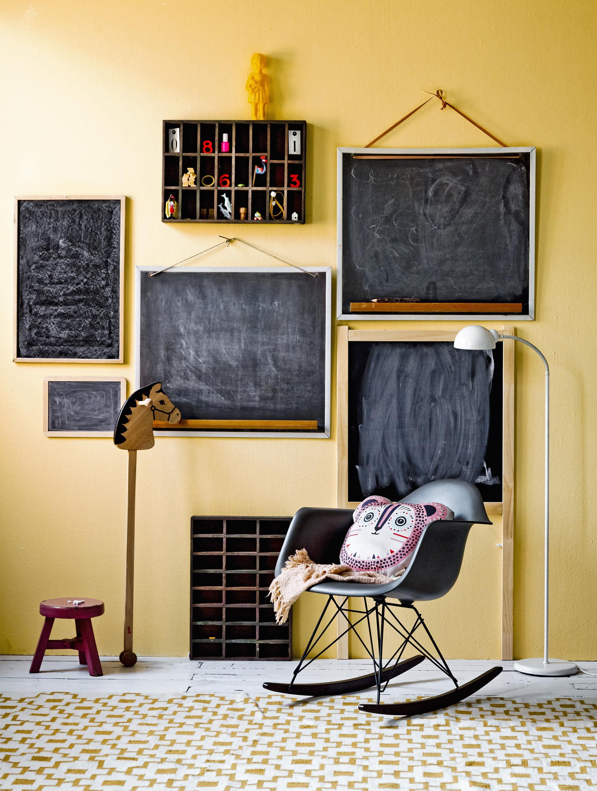 Kleine Schoolbordjes Schoolborden Nikolas Dwmatia Kids Room Wallpaper Yellow Kids