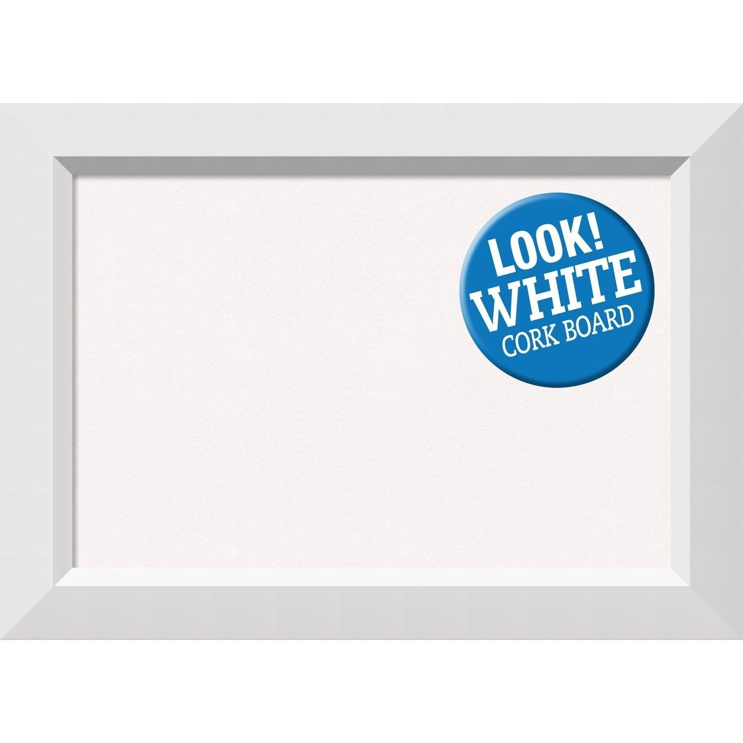 Amanti Art Framed White Cork Board, Blanco White (Small