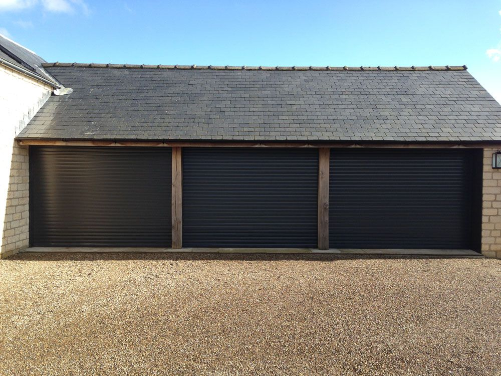 Anthracite Roller Garage Doors installed by Swan Gates Yorkshire & Anthracite Roller Garage Doors installed by Swan Gates Yorkshire ...