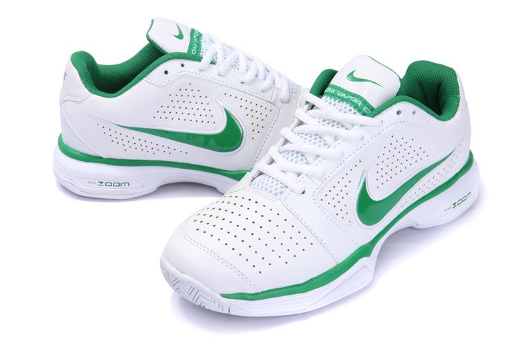 Nike Zoom Vapor 8 Club Federer Tennis Shoes White Green Mens Tennis Shoes Tennis Shoes Shoe Sale