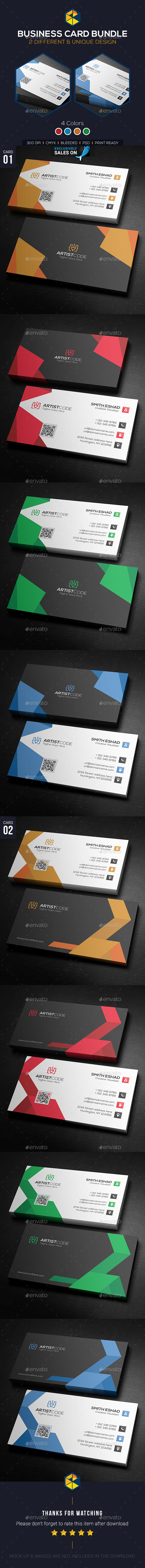 Corporate Business Card Template PSD Bundle. Download here: http ...