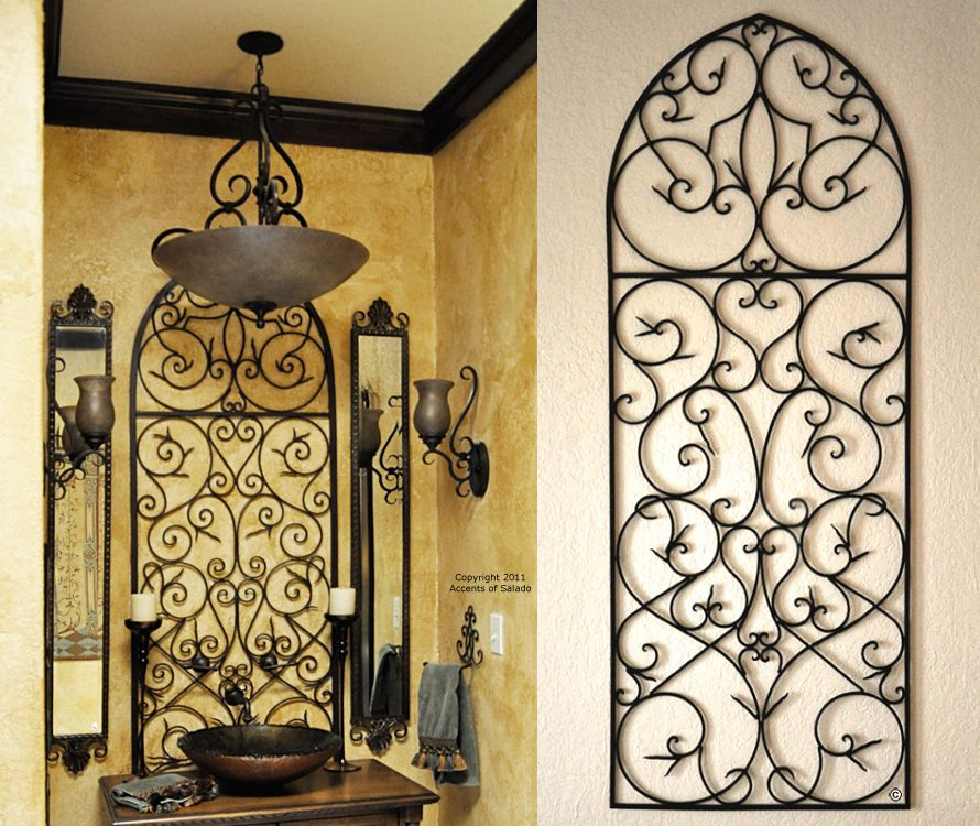 tuscan iron wall decor love the tuscan decor bathroom. Black Bedroom Furniture Sets. Home Design Ideas