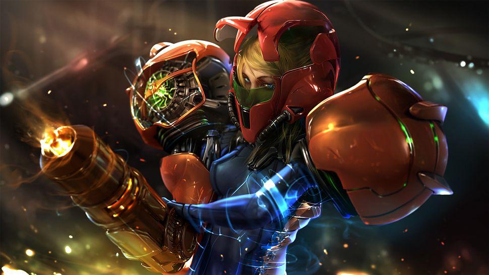 Metroid S Zero Suit Samus And Samus In Her Power Armor