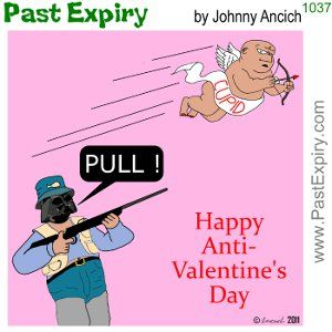 Past Expiry Cartoon Valentines Valentines Singles Awareness Day Anti Valentines Day