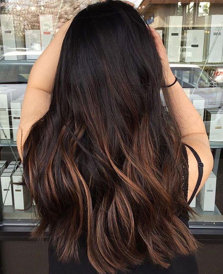 Pin By Mckayla Willerton On Hair Hair Highlights Black Hair With Highlights Brown Hair With Lowlights