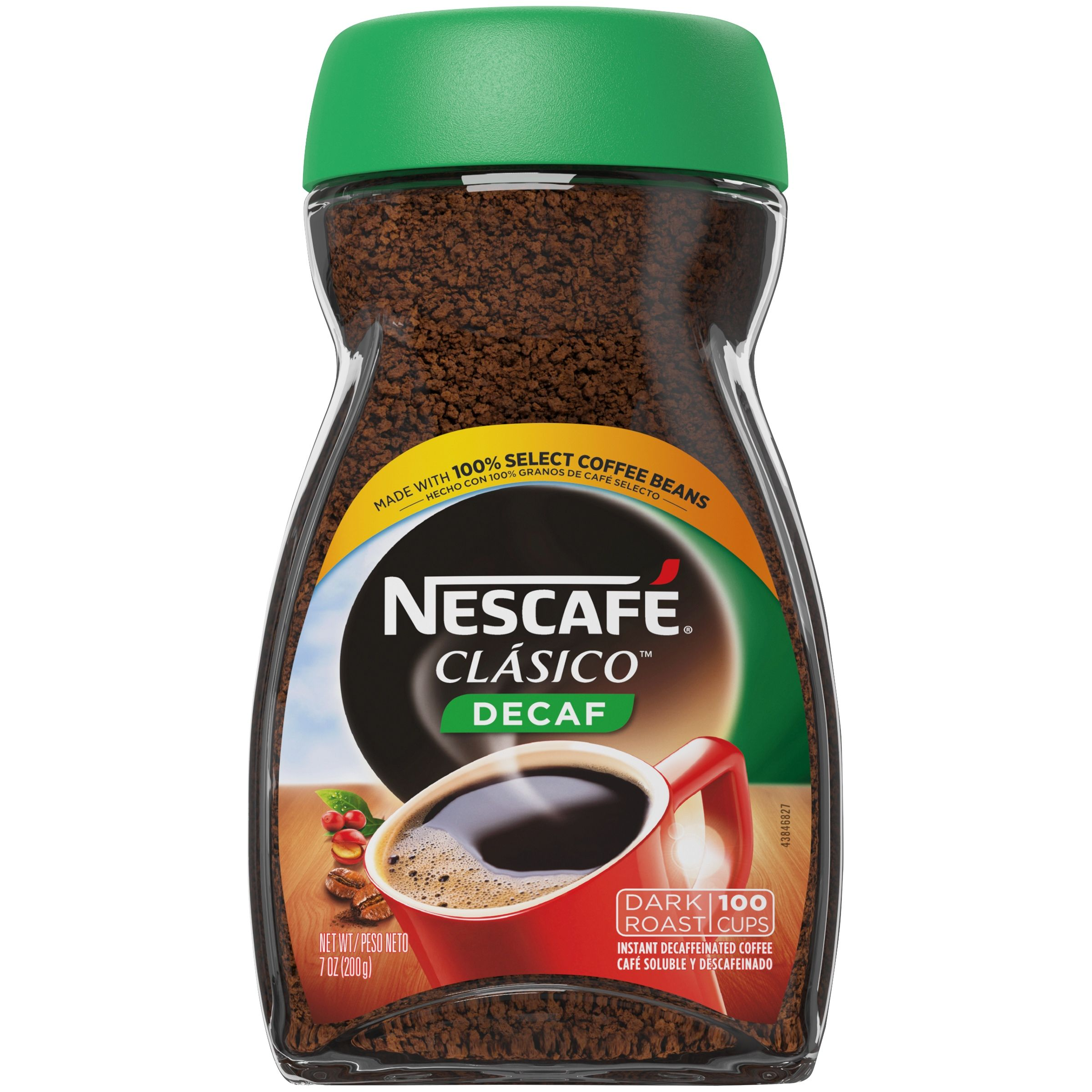 NESCAFE CLASICO Decaf Dark Roast Instant Coffee 7 oz. Jar