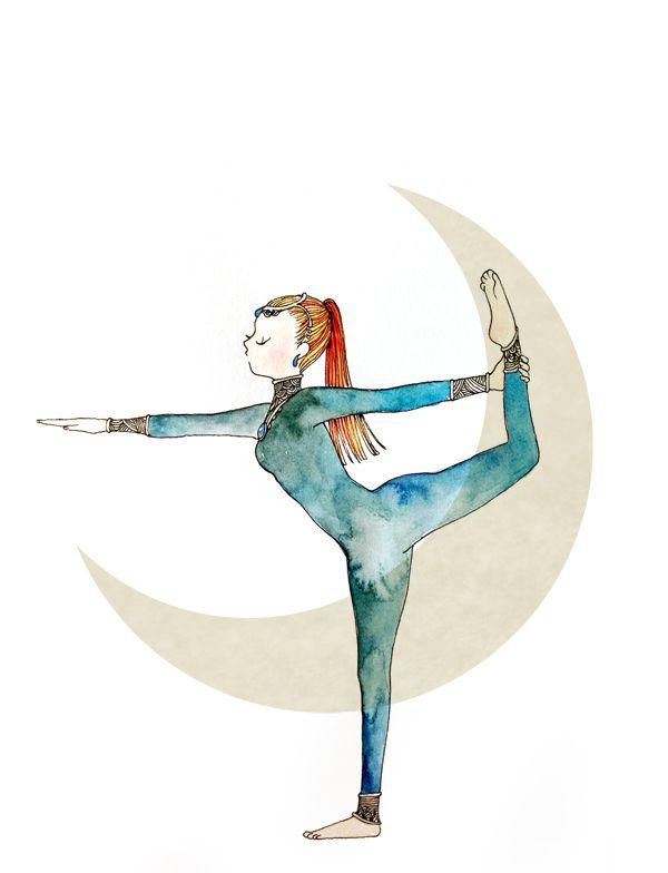 Postura De Dancarino Yoga Desenho Por Minne Natita Yoga Dibujos Yoga Beneficios E Imagenes De Yoga