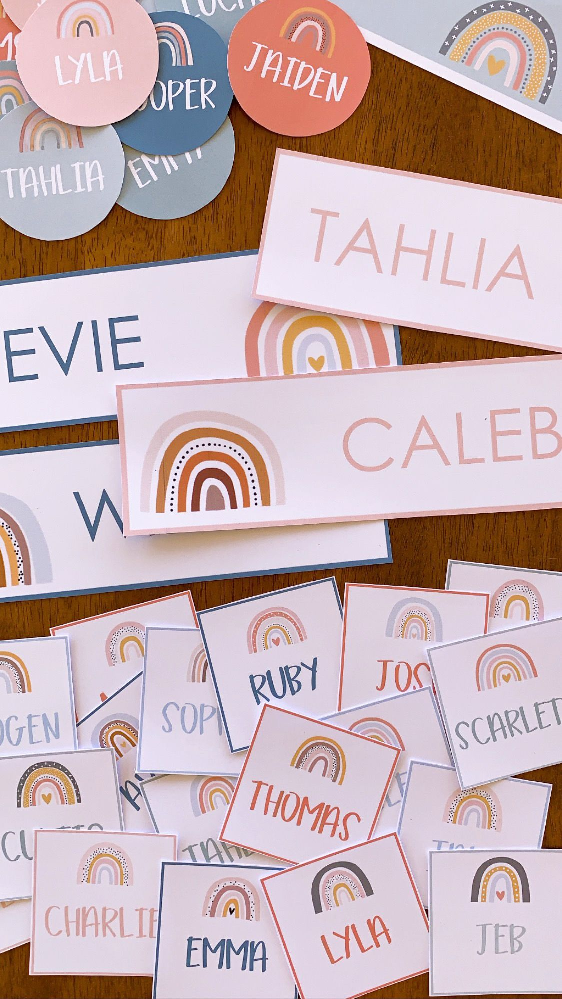 BOHO RAINBOW Editable Classroom Labels + Signs – you clever monkey