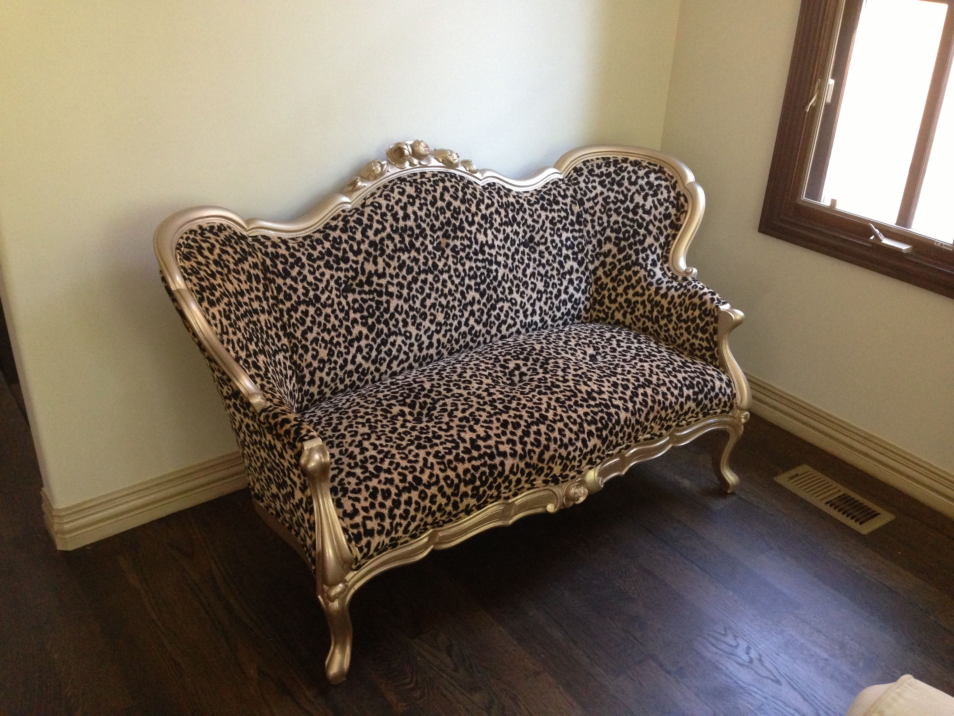 Leopard Victorian couch for my parlor