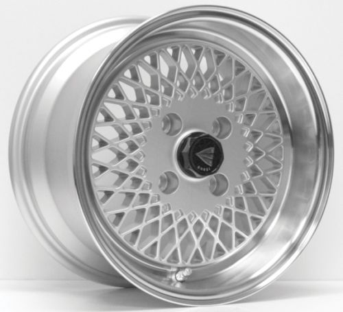 15x8 Enkei ENKEI92 4x100 25 Silver Rims Fits 4 Lug Civic Jetta Miata Xb Ek