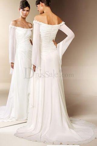 Wedding Dress With Poet Sleeves Dresses Dres