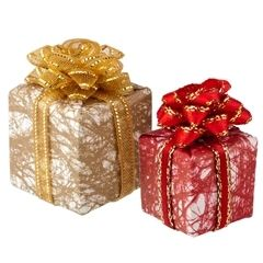 2 pc wrapped presents set festively wrapped non opening gifts 2 pc wrapped presents set festively wrapped non opening gifts with ribbon negle Choice Image