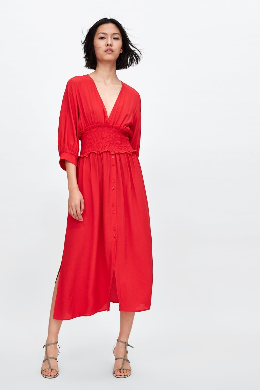 a777c08d0a79 Image 1 of DRESS WITH ELASTIC WAISTBAND from Zara