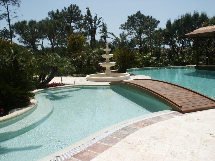 Bridge to the swimming pool clipart #3 | Swimming pool decks ...