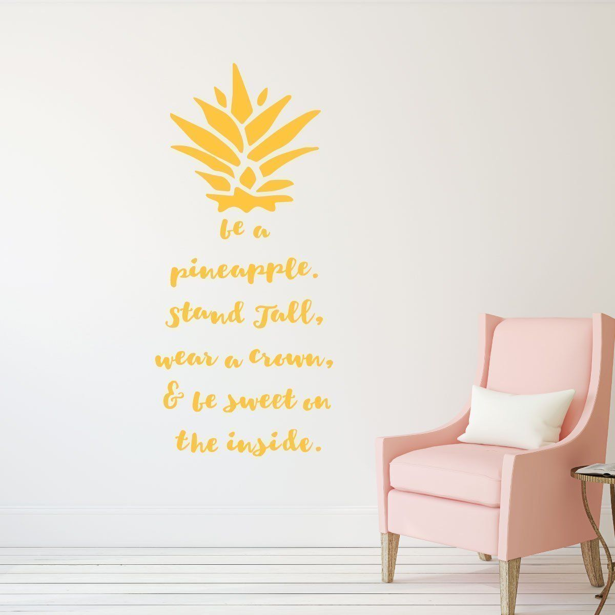 Be A Pineapple Wall Decal Removable Vinyl Sticker With Hawaiian