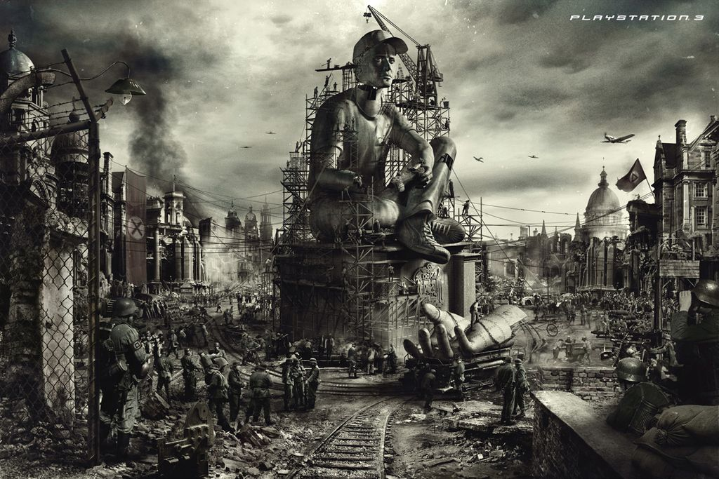 Soldiers Building A Monument To You Player Print Advertising Print Ads Playstation