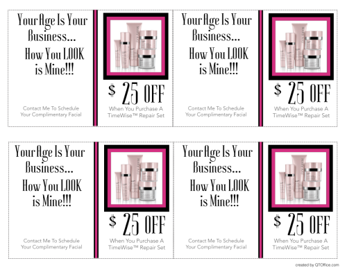 Printable coupon for 25 off TimeWise Repair Set Mary