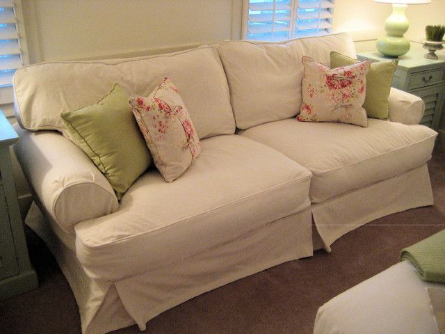 Shabby Chic Sofas And Cottage Slipcovered Sofa Traditional