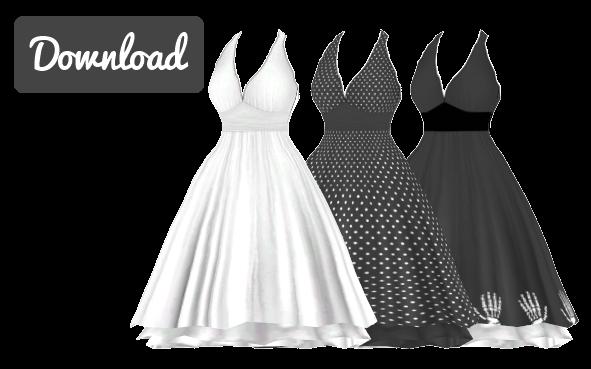b3f36b41cba2 MMD] MARILYN MONROE DRESS [+DL] by Sims3Ripper | Sims 4 cc | Sims 4 ...