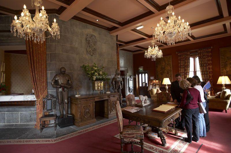 British Castles - Interior of Dromoland Castle  #europe #uk #ireland #britishisles #castle #hotel #accommodation #explore #travel #traveltherenext