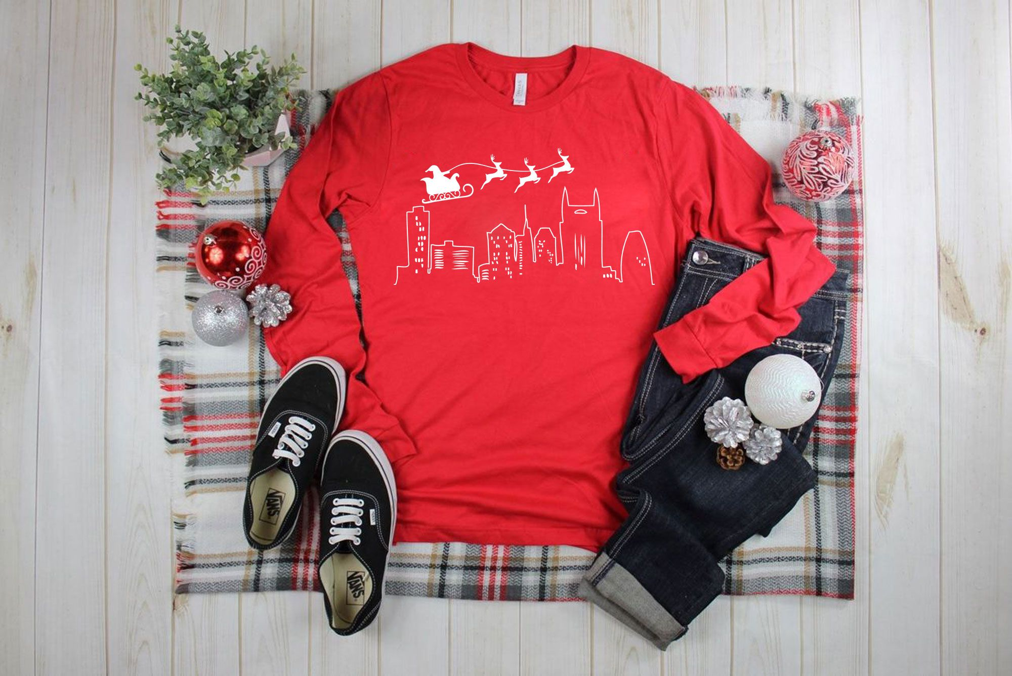 Download Nashville Christmas Unisex Jersey Long Sleeve Tee Etsy Long Sleeve Tees Shirt Mockup Winter Fash