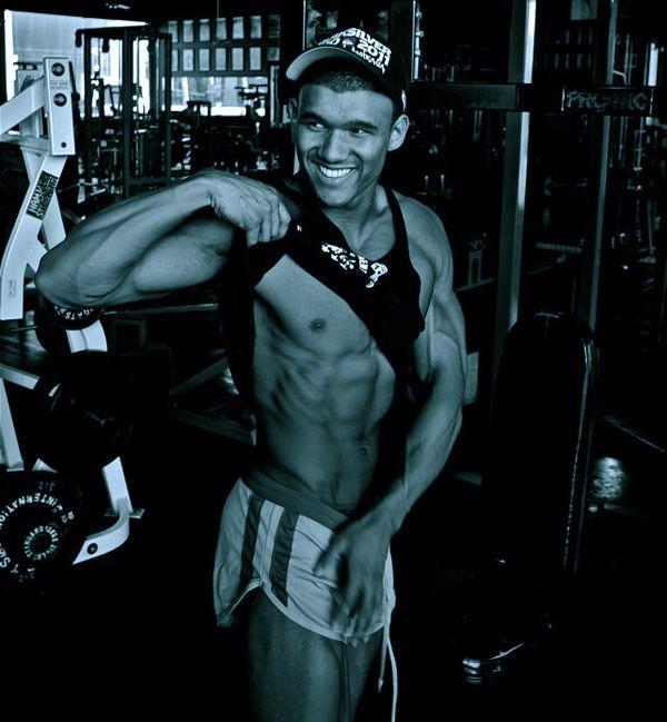 Johnny Starr on six pack abs  #JohnnyStarr #fitnessmodel