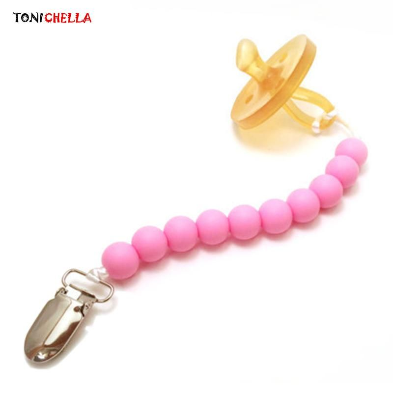 Toddler Baby Dummy Pacifier Chain Leash Soother Nipple Strap Clip LA