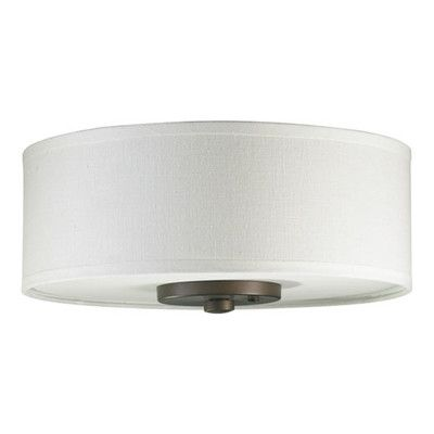 Found it at wayfair 3 light fabric drum ceiling fan light kit