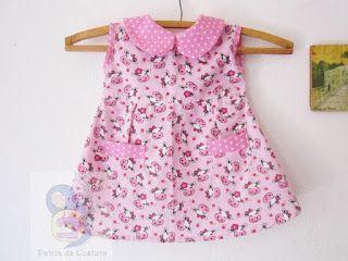 Como Costurar Um Vestido De Neném Bebe Vestidos De Bebê