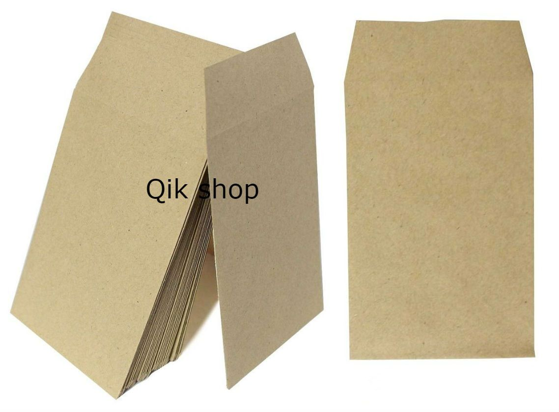 50 100 Small Brown Money Wages Dinner Coin Seed Envelopes 100x62 Mm