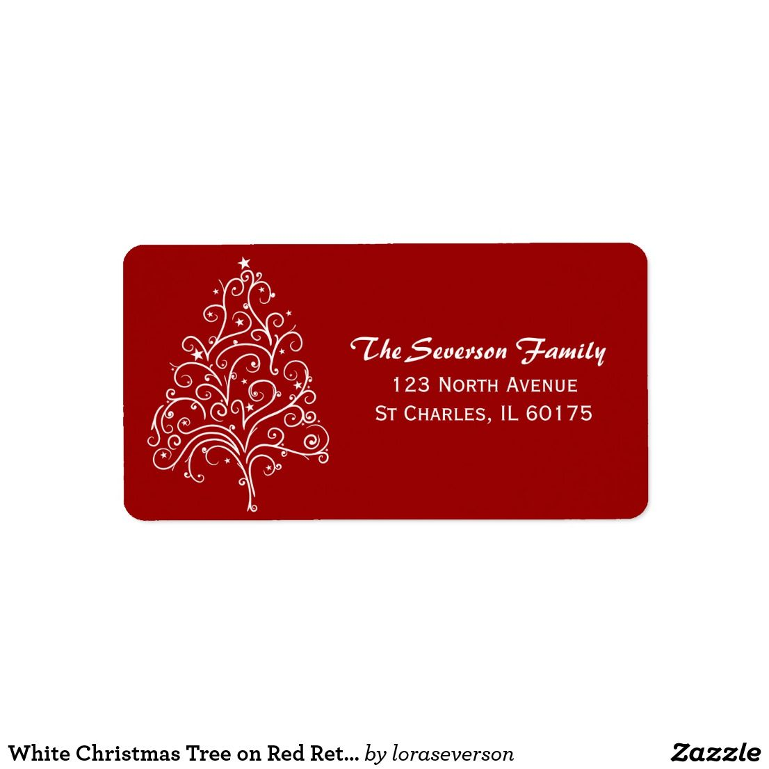 31+ Christmas tree return address labels ideas