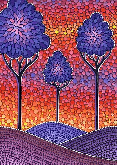 Image Result For Dot Painting Landscape Crafts Canvas Wall Art