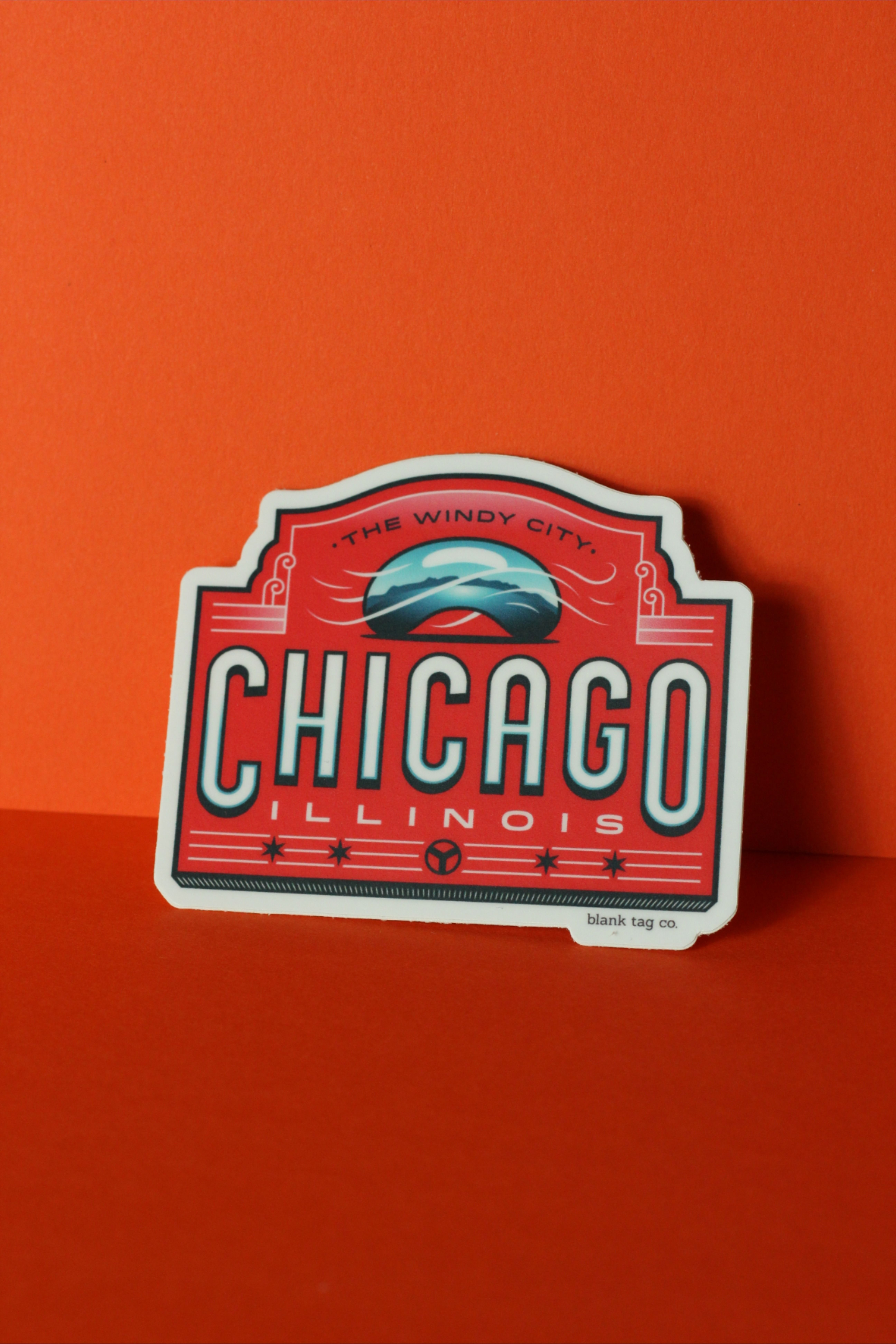 The Chicago City Badge Sticker Cute Stickers Travel Stickers Stickers [ 7776 x 5184 Pixel ]