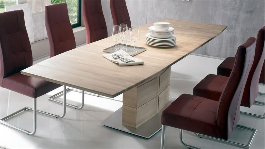 Esstisch Arte S Tischsystem Eiche Sonoma Massiv Synchronauszug 160 260 Esstisch Tisch Eiche