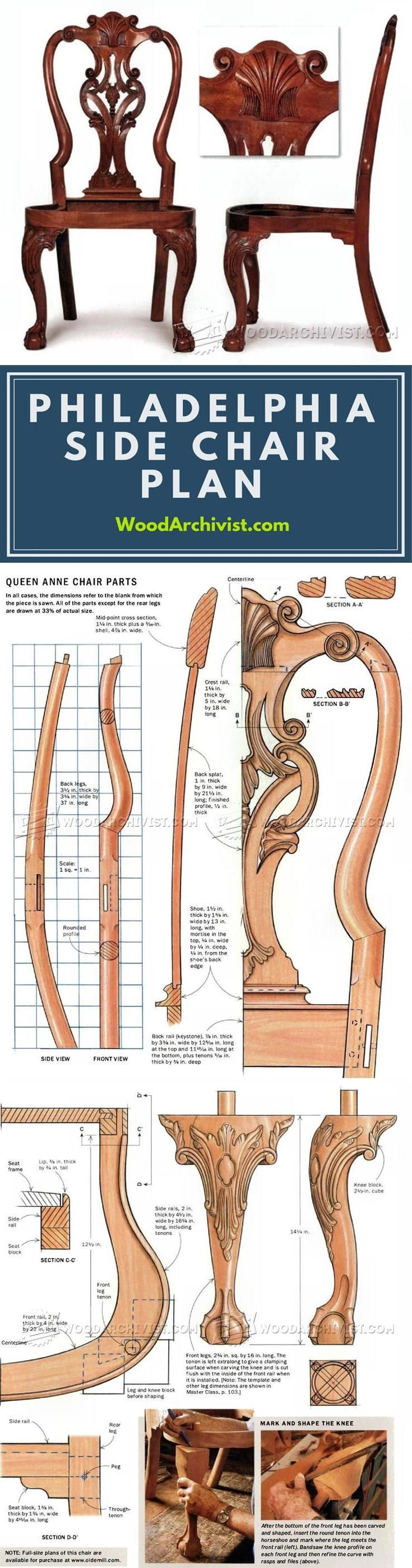 How to build a wingback chair my woodworking plans - Philadelphia Side Chair Plans Furniture Plans And Projects Woodwork Woodworking Woodworking Plans Woodworking Projects