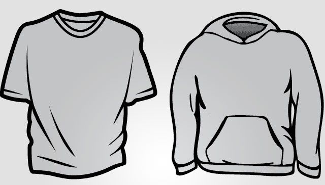 Download Hoodie And Basic T Shirt Templates Free Download T Shirt Template Shirt Template Hoodie Template Hoodie Design