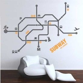 office wall stickers. Upgrade Your Interior Design With Wall Decal Subway Map. This Giant Sticker Is A Unique Decor Solution To Add Urban Chic Home Or Office Space Stickers