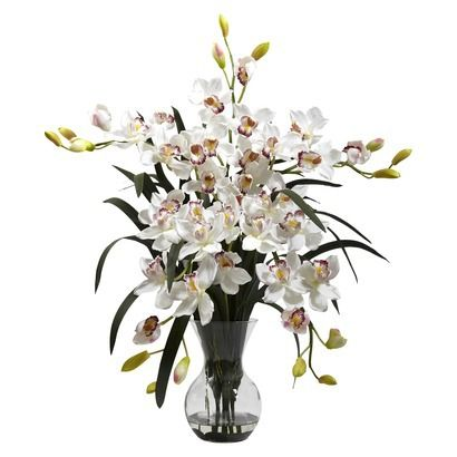 Nearly Natural Artificial Orchid Arrangement - White 12   New house on target flower boxes, target baskets, target trays, target flower puzzles, target flower bedding, target clocks, target pillows, target lighting, target flower wall art, target flower arrangements, target flower luggage, target flower dishes, target flower chairs, target umbrellas, target flower lights, target cosmetics, target balloons, target flower pots, target blue vase, target furniture,