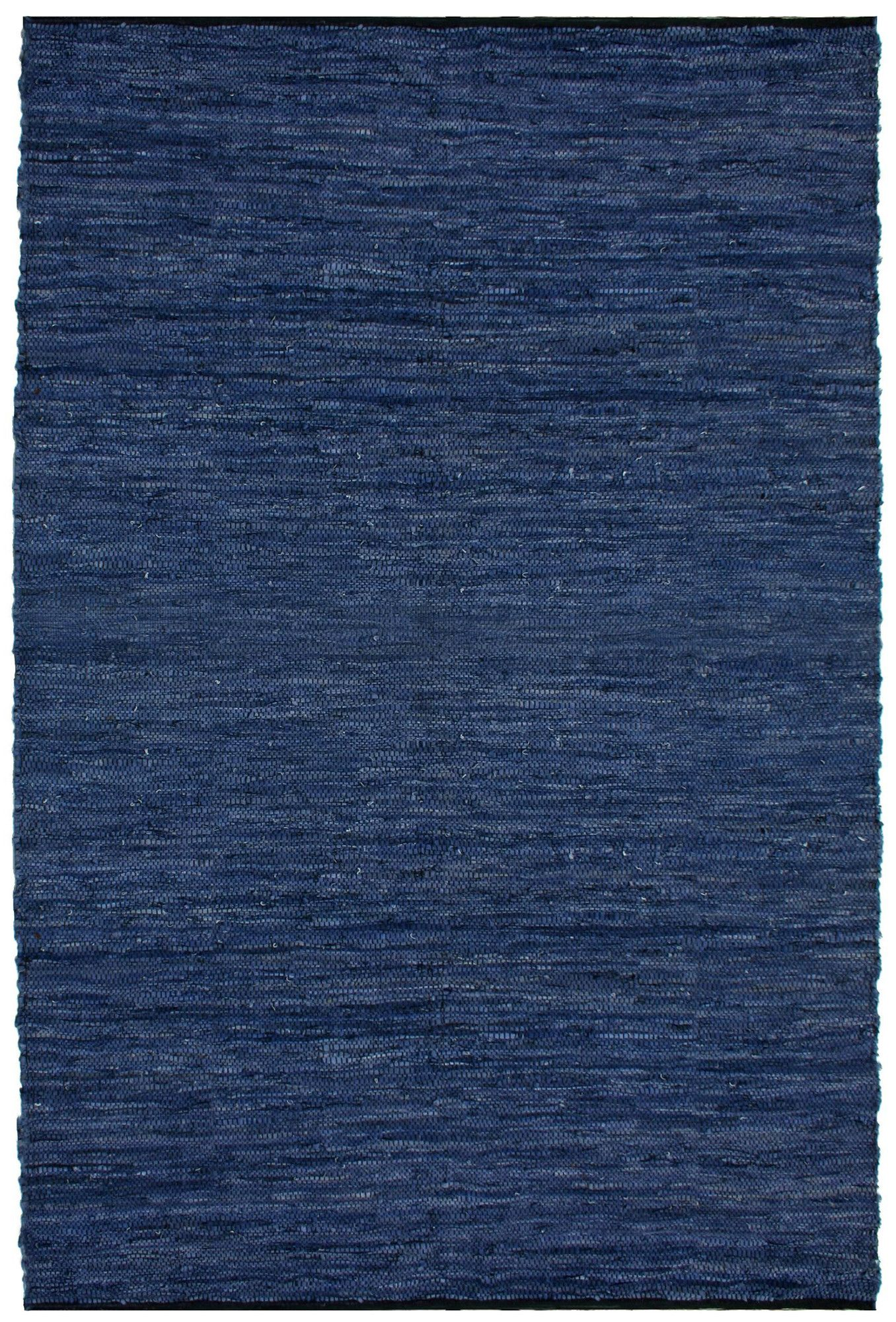 St Croix Matador Leather Chindi Blue Area Rug Reviews Wayfair 8x10