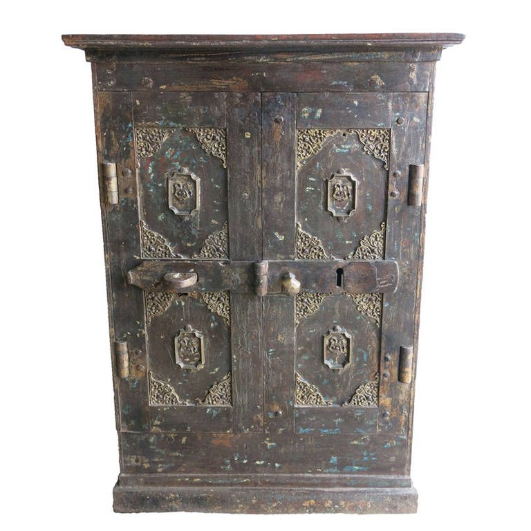 Antique Safe Vault Cabinet | From a unique collection of antique and modern cabinets at https://www.1stdibs.com/furniture/storage-case-pieces/cabinets/